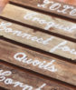 rustic timber signage